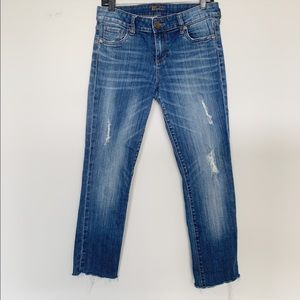 Kut from the Kloth cropped raw hem jeans